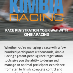 Kimbia Racing's site as seen on an iPhone